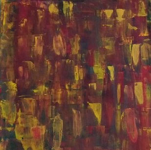 Abstract - Unity by Gitika Singh, Abstract Painting, Acrylic on Canvas, Gray color