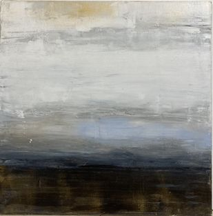 Prelude by Pallavi Donni, Abstract Painting, Acrylic on Canvas, Silver color