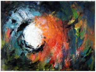The Inner Source of Power by Archana Jain, Abstract Painting, Acrylic on Canvas, Gray color