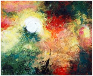 Sunshine by Archana Jain, Abstract Painting, Acrylic on Canvas, Olive color