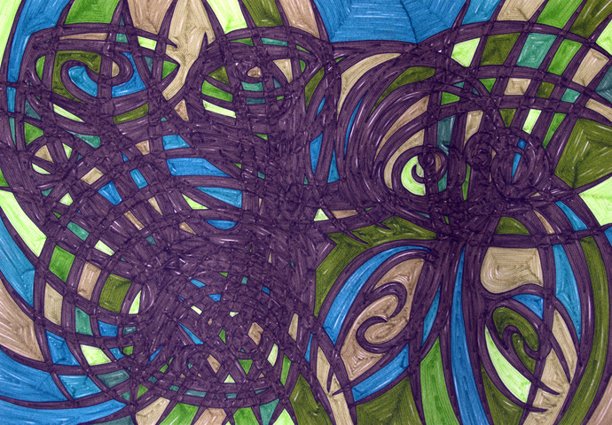 Measuring Volume of Perspective 43 by Dhanur Goyal, Abstract Drawing, Ink on Paper, Gray color