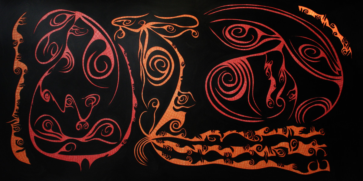Losing Sight of Perspective 26 by Dhanur Goyal, Abstract Painting, Pen & Ink on Paper, Black color