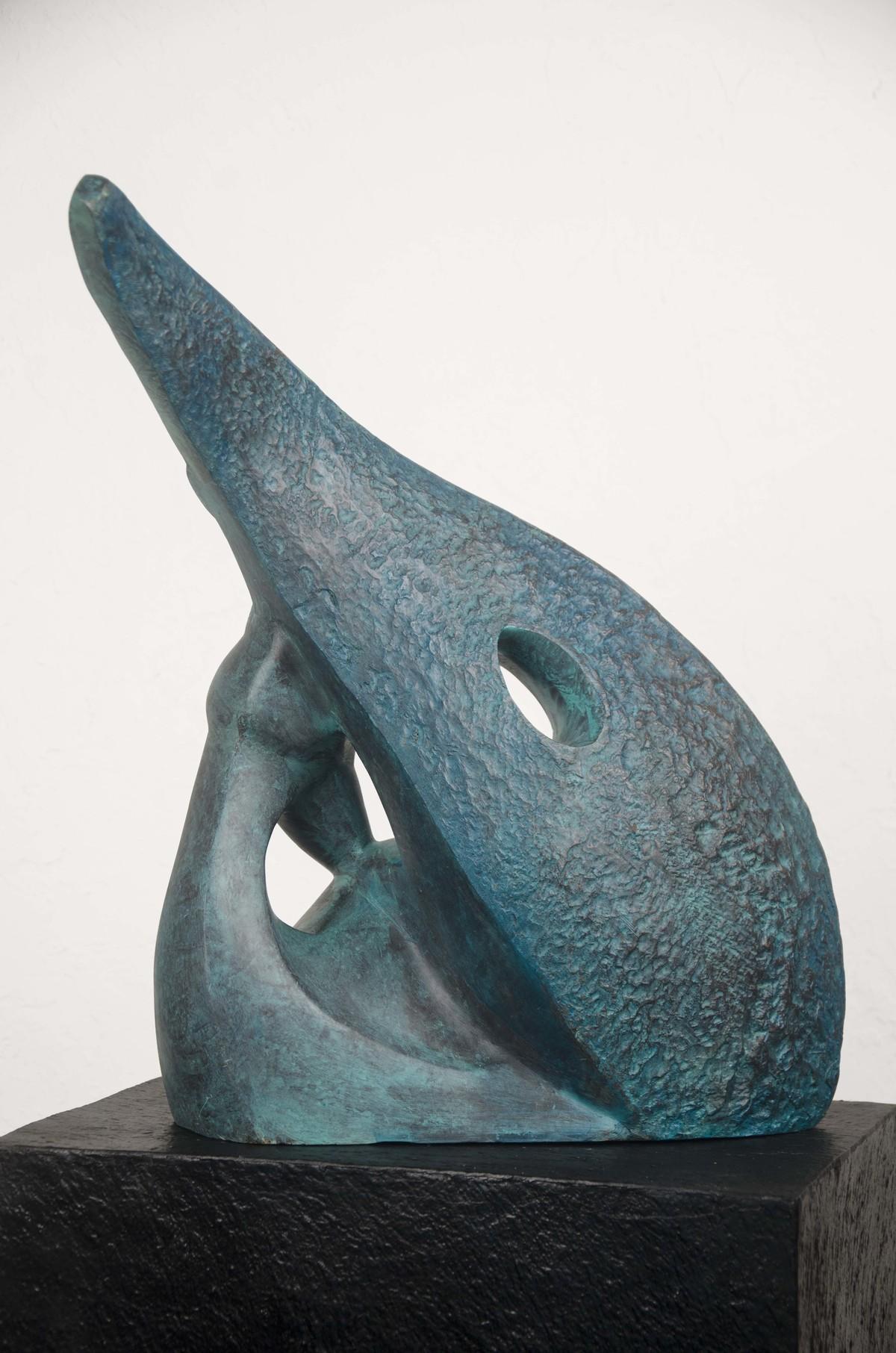 Before Rains by Renu Khandelwal, Art Deco Sculpture | 3D, Fiber Glass, White color