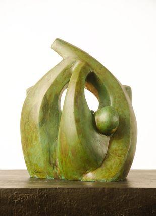 Bliss by Renu Khandelwal, Art Deco Sculpture | 3D, Fiber Glass, Olive color