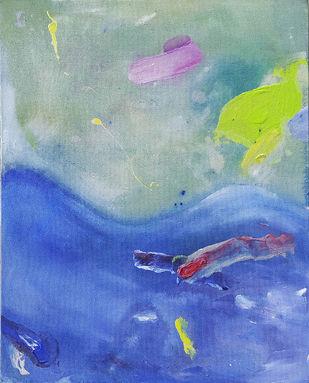 Dry Fantasy by Vanshita arora , Abstract Painting, Mixed Media on Canvas, Gray color