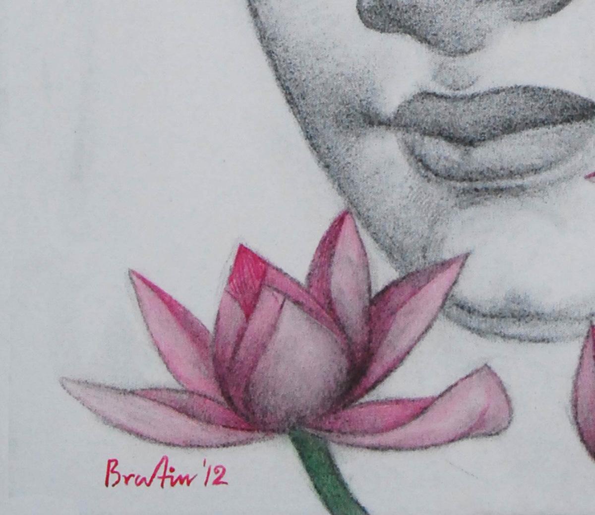 Bratin khan  buddha   detail 4