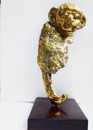 Untitled by Usha Ramachandran, Art Deco Sculpture   3D, Bronze, Gray color