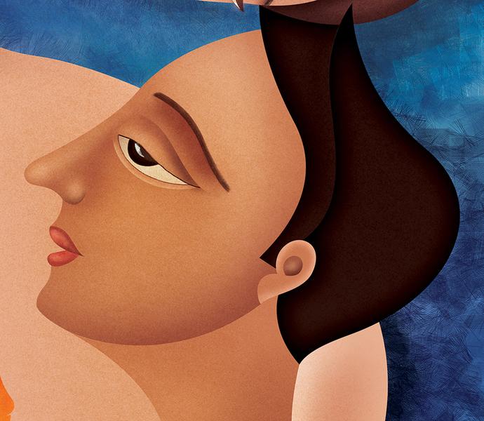 Untitled by Suvarna Sohoni, Digital Digital Art, Digital Print on Canvas, Brown color