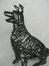 Faithful by Jignesh Jariwala, Art Deco Sculpture | 3D, Metal, Gray color