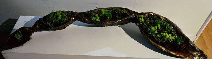 seed pod by Roopa Kangovi, Art Deco Sculpture | 3D, Found Object, Rangoon Green color