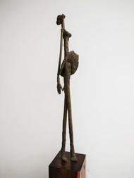 Ballerina by BASUDEB BISWAS, Art Deco Sculpture   3D, Bronze, Gray color