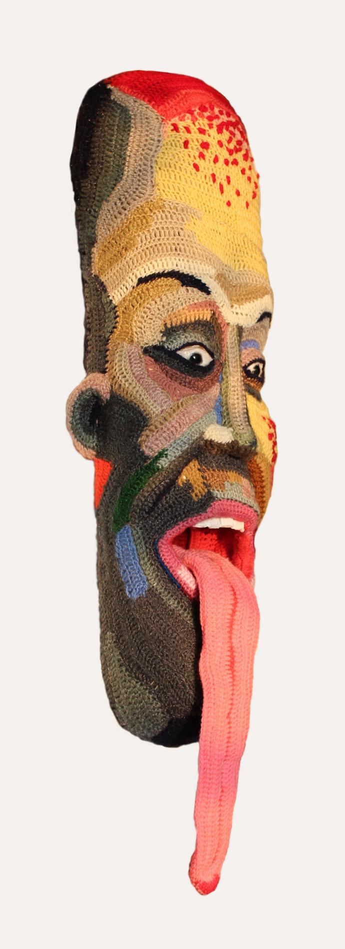 Face 22 by Archana Rajguru, Art Deco Sculpture   3D, Mixed Media, White color