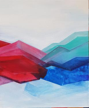 Vision by Ambika Malhotra, Abstract Painting, Acrylic on Canvas, Sapphire color