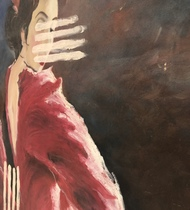 Flair by Harshika Nargotra, Expressionism Painting, Oil on Canvas, Cowboy color