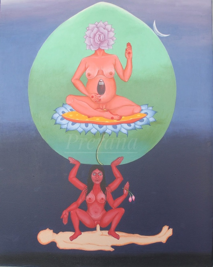 The eternal nectar Digital Print by Prerana Sarkar,Fantasy