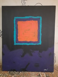 Human nature (i) by Jignesh Jariwala, Abstract, Cubism Painting, Acrylic on Canvas, Charade color